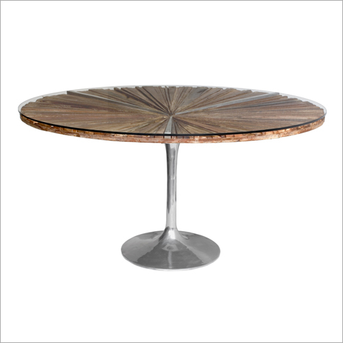 Industrial Round Bar Table