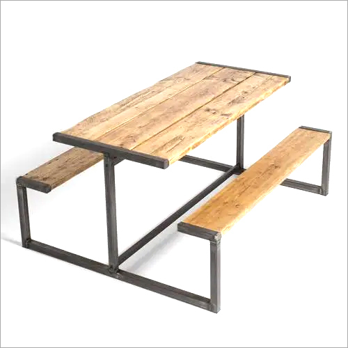Iron Table With Bench