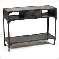 Iron Console With Drawer