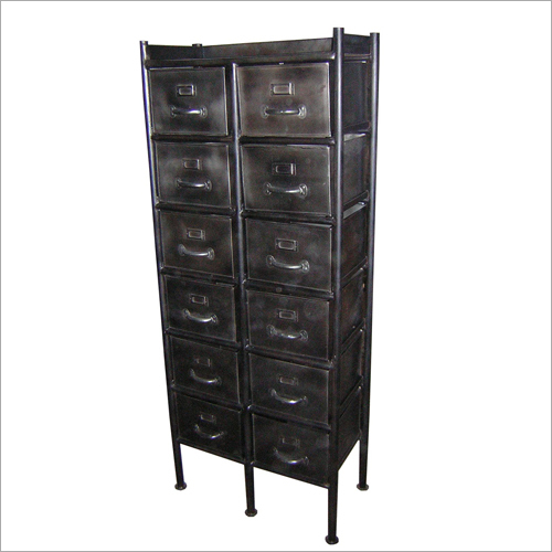 12 Drawer Iron Cabinet