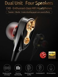 4D Bass Wired Earphone