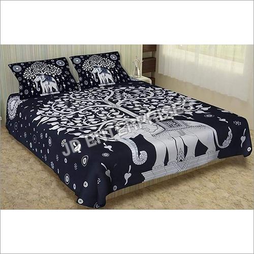 Elephant Print Cotton Bed sheet