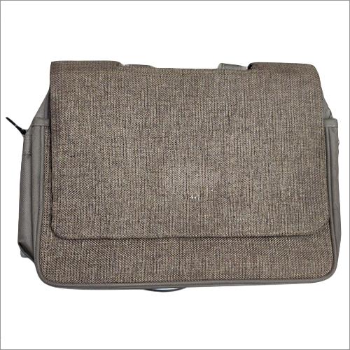 Jute Satchel Messenger Bag