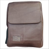Leather Brown  College Bag