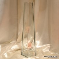 CLEAR GLASS LONG FLOWER VASE
