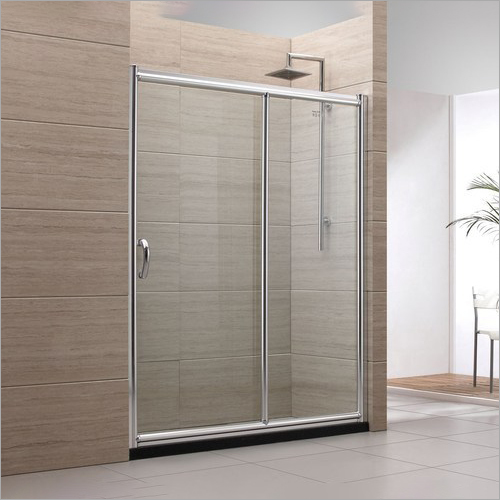 Sliding Glass Bathroom Partition