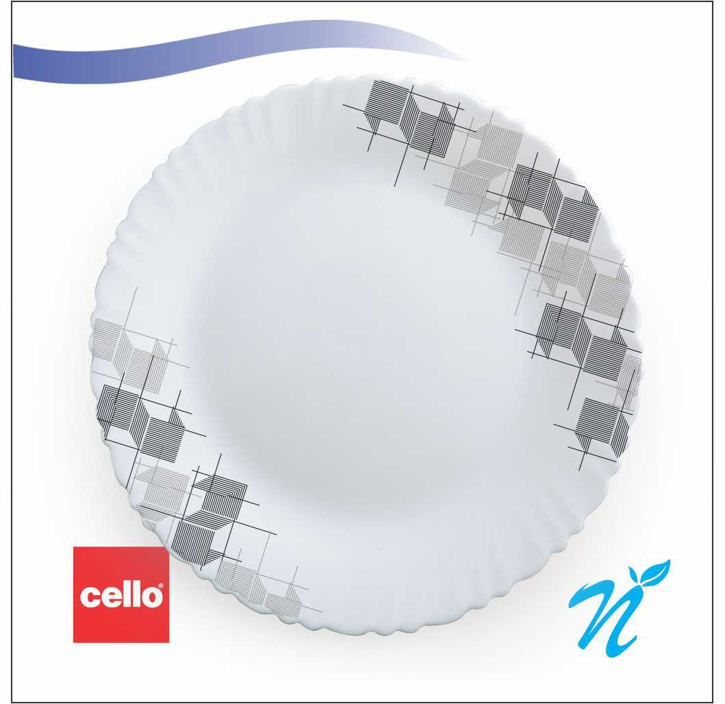 Cello 12 pcs Dinner Set – Linear Glaze