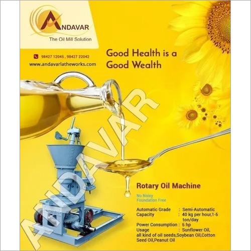 Mustard Oil Rotary Machine