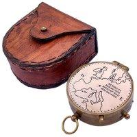Antique Brass Compass