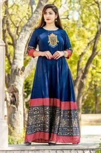 Rayon new designer kurti - embroidery work Indian design kurti