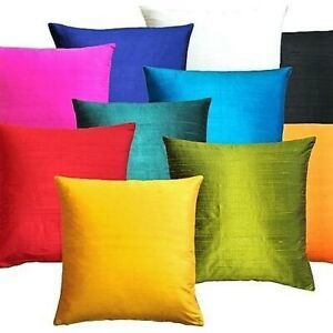 Plain Silk Cushion Cover