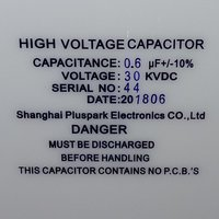 Capacitor 30kV 0.6uF,High Voltage Capacitor 30kV 600nF