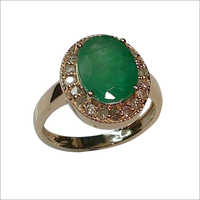 Oval Emerald Diamond Ring