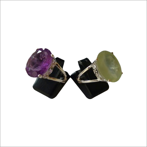 Amethyst And Prehnite Ring