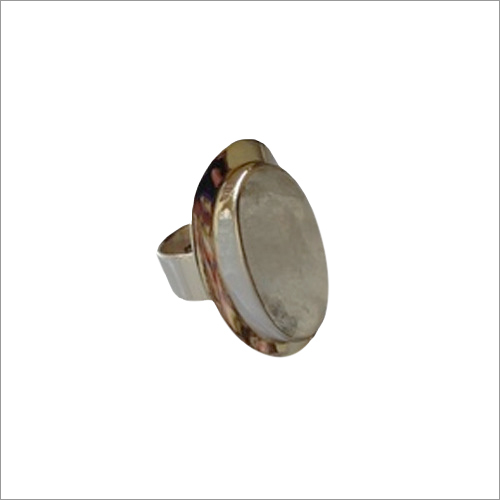 Golden Rutile Quartz Stone Ring