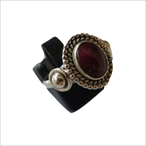 Maroon Onyx Stone Ring