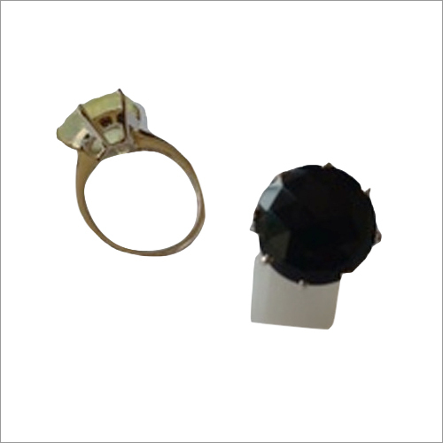 Prehnite And Black Onyx Ring