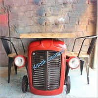 Tractor Wooden Table Set