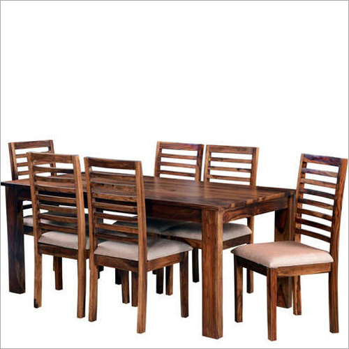 Wooden Dining Table  Six  Seater Set