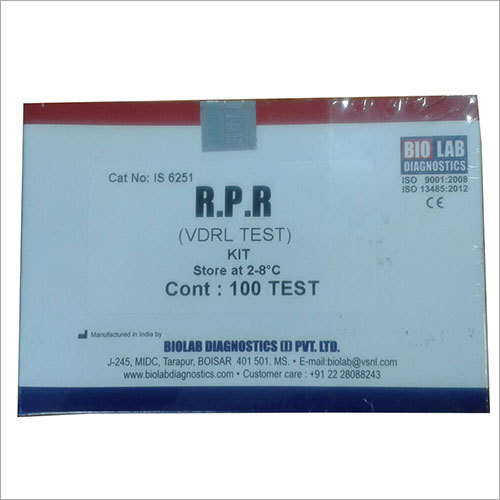 RPR (VDRL) Test Kit (For Syphilis )