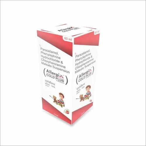 Paracetamol, Phenylephrine HCL & Chlorpheniramine Suspension