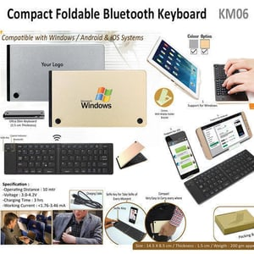 Compact Foldable Bluetooth Keyboard