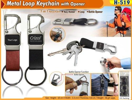Metal Loop Keychain