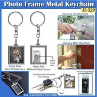Photo Frame Metal Keychain