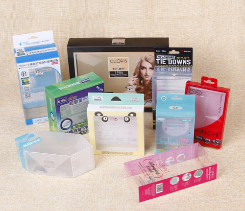 Custom clear plastic cosmetics packaging box