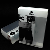 Custom clear plastic Underwear Packaging Box