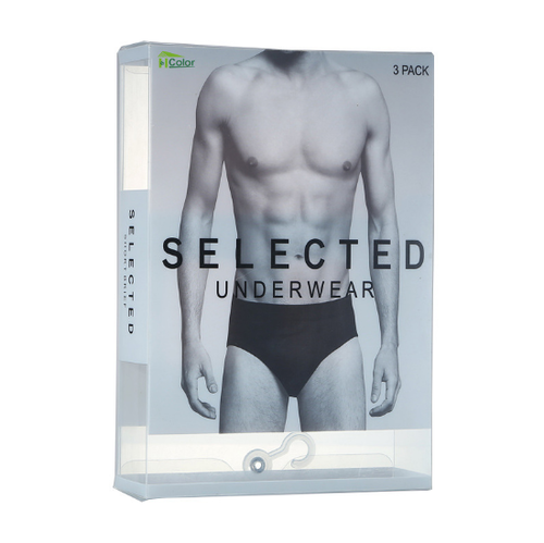 PVC Underwear Plastic Packaging Box