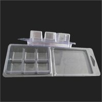 6 Cavity Wax melt Candle clamshell  PVC Tray