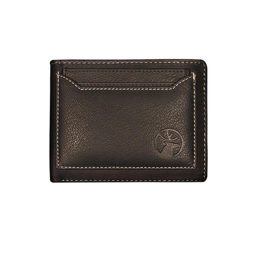 Mens Black BI Fold Leather Wallet