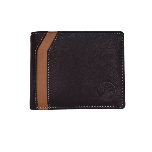 Mens Designer Dual Colour Bi Fold Wallet