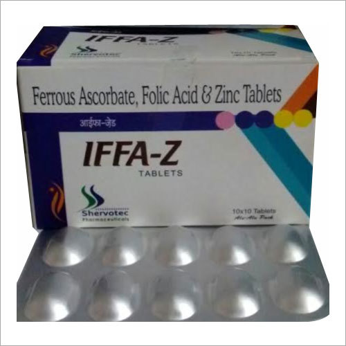 Ferrous Ascorbate Folic Acid And Zinc Tablet