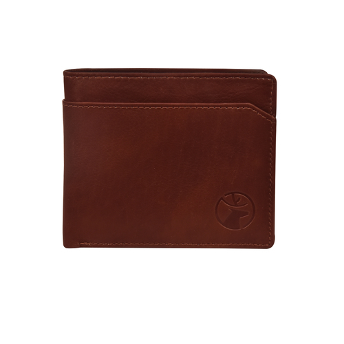 Mens Bi Fold Brown Leather