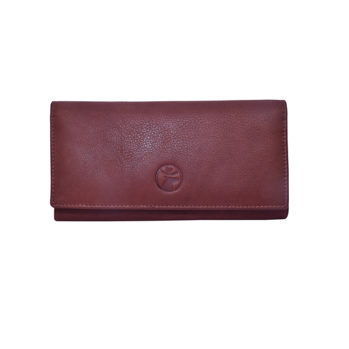 Ladies Leather Double Flap Clutch/Wallet