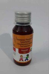 Paracetamole 250mg+Phenylephrine 5mg+Chlorpheniramine+2mg (Anticold syp)