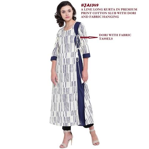 A-line cotton kurti