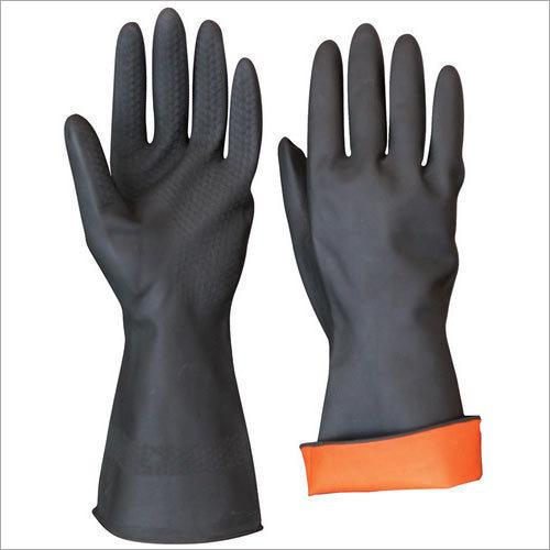 Black Industrial Rubber Glove