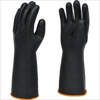 Black Industrial Rubber Glove