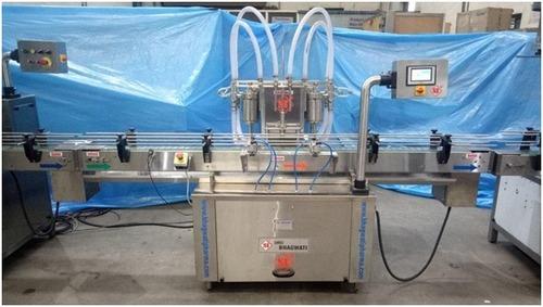 Automatic Two head PLC Based Liquid Filling Machine