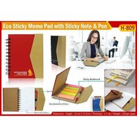 Eco Friendly Sticky Note Pad With Ball Pen