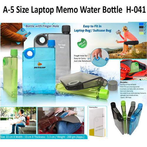 A5 Size Laptop Memo Water Bottle