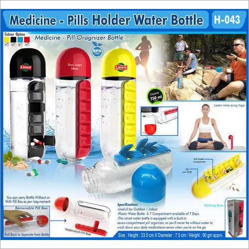 Medicine Pills Holder Water Bottle
