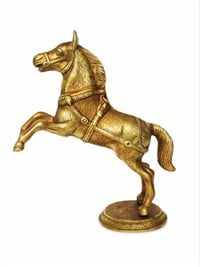 Antique Gold Brass Horse Statue