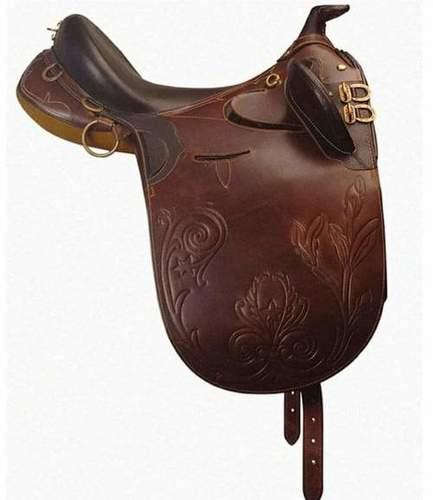 Brown Western Saddle