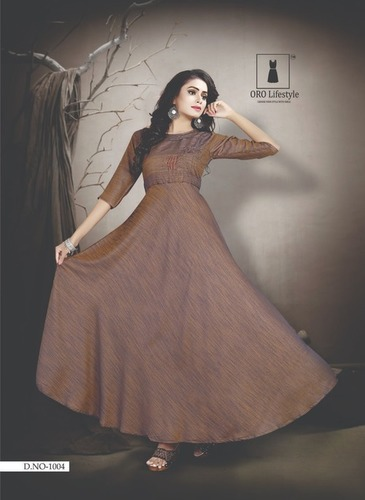 Rayon Long Gown