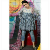 Ladies Casual Printed Short Kurti