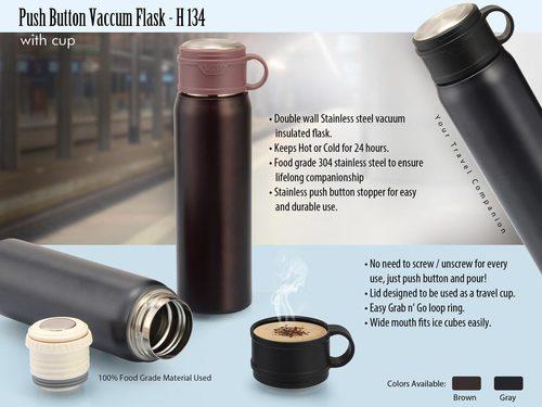 Push Button Vacuum Flask